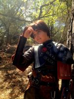 Hiccup Cosplay ~Fixing My Helmet Hair~ by oOPrincessLinkOo