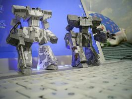 Paper model - mech unit (old version) by Sermann