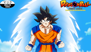 Son Goku takes to the skies by MalikStudios