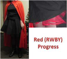 Red (RWBY) Cosplay Progress by Holly-Batali