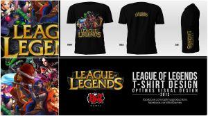 League Of Legends T-Shirt Design by OptimusProduction