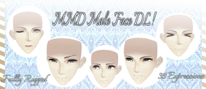 [MMD] Male Face -DL- by DeidaraChanHeart