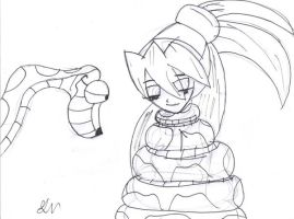 Kaa and Ciel by lol20
