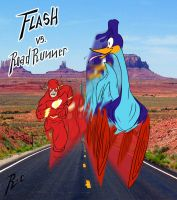 Flash vs RoadRunner by rubioric