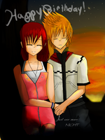 Happy birthday Sora- roxiri by HeDoesntLoveHer