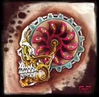 Steampunk Gear Skull by mr-biggs