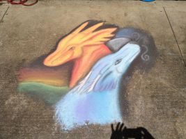 Chalk dragon 2 by CrystalCircle