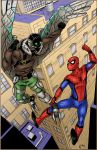 Spiderman vs Vulture Colors by Kittensoft