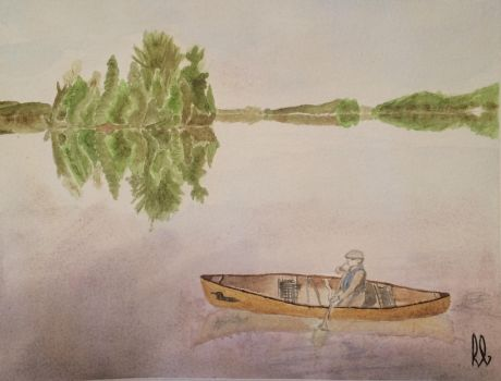 Algonquin canoe (Watercolour) by wortmore