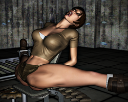 Lara Croft in Peril: The Spreader 17 by FatalHolds