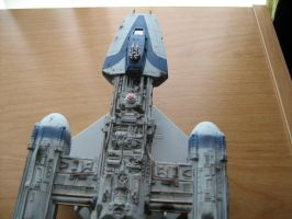 Fine Molds Y-wing top view by Defibulator