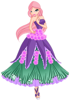 Ariana Flower Ballgown by Meow-Lady