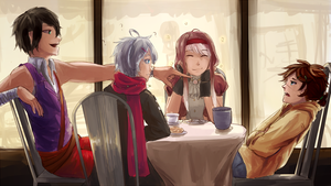 [HMLS] Cafe fun time!! by Infinitum-Outbreak