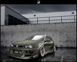 VW Golf IV by Ophideus