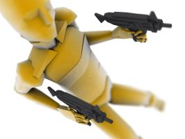 biped with uzi by 3dchris89