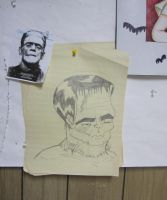 Frankenstein monster study by after-the-funeral