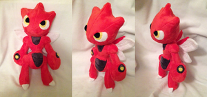 Scizor Plush by Glacdeas