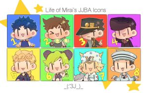 JJBA ICON SET by DoritoMeatbag