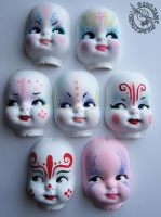 Seven Dolly Faces by Myrret