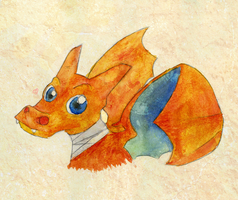 Charizard -Water Colour- by OxAmy