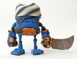 MCM Show Special Blue Tribe Rusty Robot Pirate by SpaceCowSmith