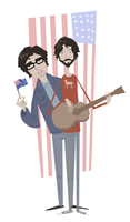 Flight of the Conchords by kjmarch