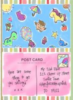The 'Cheer Up' Postcards (Day 1) by Pinkie-Perfect
