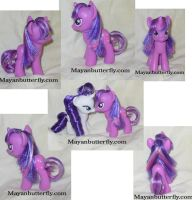 Rehaired Friendship is Magic Twilight Sparkle Pony by mayanbutterfly