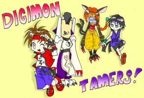 digimon manga cover 2 by Riza23