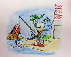 Seaside Hill - ''Catch of the day!'' by TheJege12