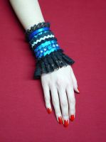 Black blue gothic cuff by Estylissimo