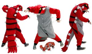 Groudon Pokemon Kigu Costume by diemortalroom
