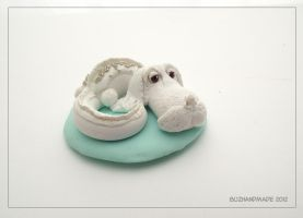 Luck Dragon Falcor - Neverending Story by buzhandmade