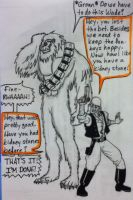 Deadpool and Sasquatch as Han and Chewy by reignfire77