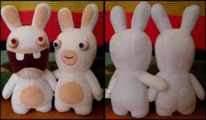 Peluches Lapins cretin by apdrea