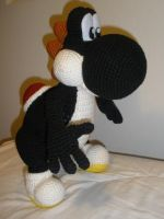 Crocheted Black Yoshi 3 by aphid777