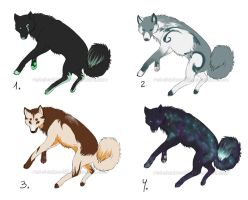Point Adopts: wolves: CLOSED by Red-Sinistra
