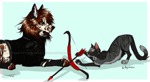 Sterling, Kitty, let go of Whitehawk's bow. by AgentWhiteHawk