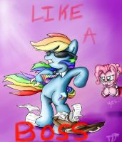Art Trade: Like a Boss by AquaticSun