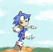 30 Minute Challenge_Sonic by A4ArtStuff