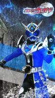 Kamen Rider Wizard Water Dragon iPhone5 Wallpaper by Nac129