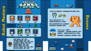 Mega Man 3 NES Cheat Sheet by Moelleuh