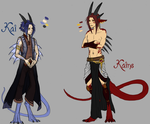 The Brothers, Kai and Kaine by AbelPhee