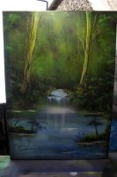 Simple Woods - Spray Paint Art Canvas by RiensArtwork