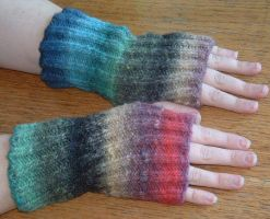 Kureyon Wristwarmers by holls