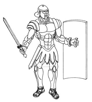 Roman Warrior (lines) by ArteDigitalSA