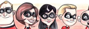 Incredibles Caricatures by scotlanddbarnes