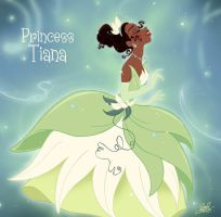Tiana becoming a princess... by princekido