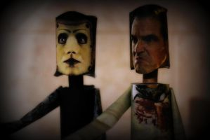 Pavi and Luigi Largo - Papercrafts from Repo!TGO by ViluVector