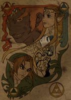 Triforce coloration WIP by The-Clockwork-Crow